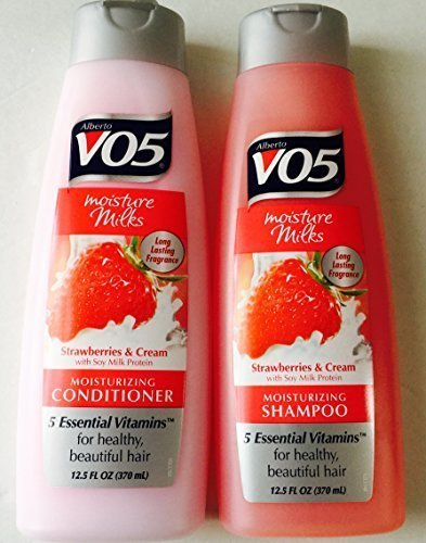 - Alberto V05 Moisture Milks Strawberries & Cream Moisturizing Shampoo & Conditioner Set (12.5 fl.oz)