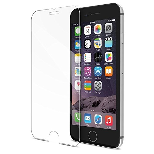 iPhone 6/6s/7 Screen Protector, 9H Tempered Glass HD Clear Film Cellphone Protective Film 3D Touch Compatible Anti-Fingerprint Oil Stain Scratch Coating Bubble Free (4.7 Inch, 1 - Glasses Bill Bass