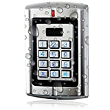 UHPPOTE Metal Waterproof Stand-alone Access Keypad Wiegand 26 for 125Khz EM-ID Card