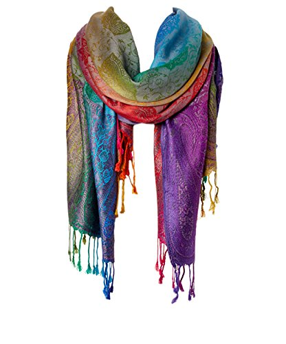 Fashion Women's Silk Scarf Luxury Satin Shawl Wraps (Dark Jewel)