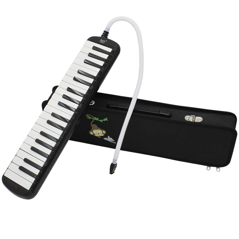 heaven2017 37 Keys Tute Melodica Piano Keyboard Musical Instrument for Kids Adult Black