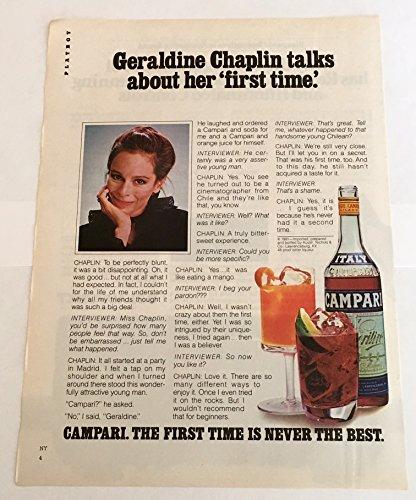 1981-geraldine-chaplin-campari-liqueur-print-ad