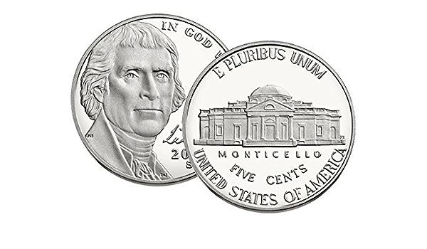 2010-2018 S Proof Jefferson Nickel 9 Coin Set