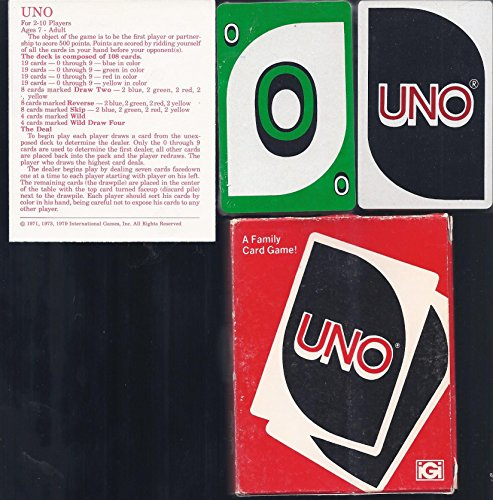 Deluxe UNO; America's Family Card Game Sensation (1978 Vintage) from iGi
