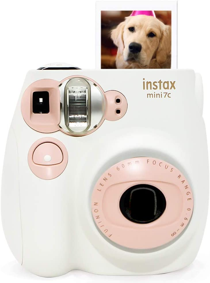 Nishow Replacement for Fujifilm instax Mini 7C Instant Film Camera for Ideal Gift Set - Pink