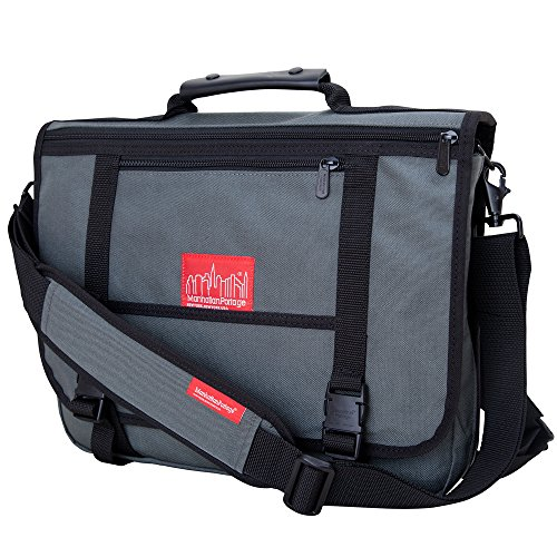 Manhattan Portage The Wallstreeter Messenger With Back Zipper (Gray)