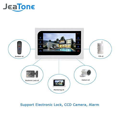 JeaTone 10 Inch TFT Wired Video Door Phone Intercom Security Camera Doorbell Home Security Camera System 32GB SD Card Video Record Monitor Door Video Camera Best Selling by Jeatone (Image #4)
