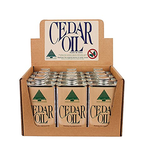 Giles and Kendall Cedar Oil Restores the Original Aroma of Cedar Wood, 8 Fluid oz / 236 ml