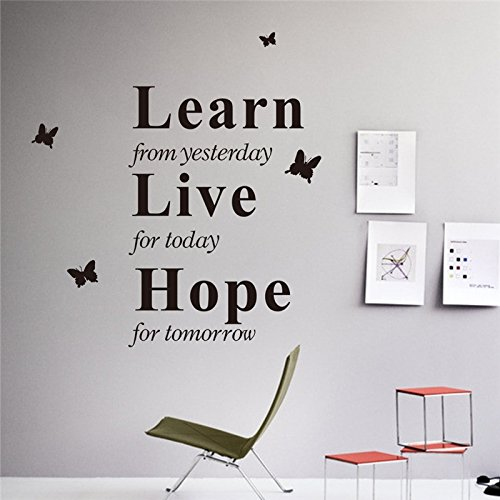 trfhjh Quotes Wall Sticker Home Art Live Today Hope Tomorrow Inspirational Quotes Wall Stickers Living Room Indoor Wall Art Decor DIY Removeable DecalsFor Bedroom Living Room Kids Room by trfhjh