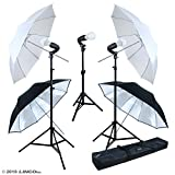 LINCO Lincostore Studio Lighting LED 2400 Lumens Umbrella Light Kit AM249