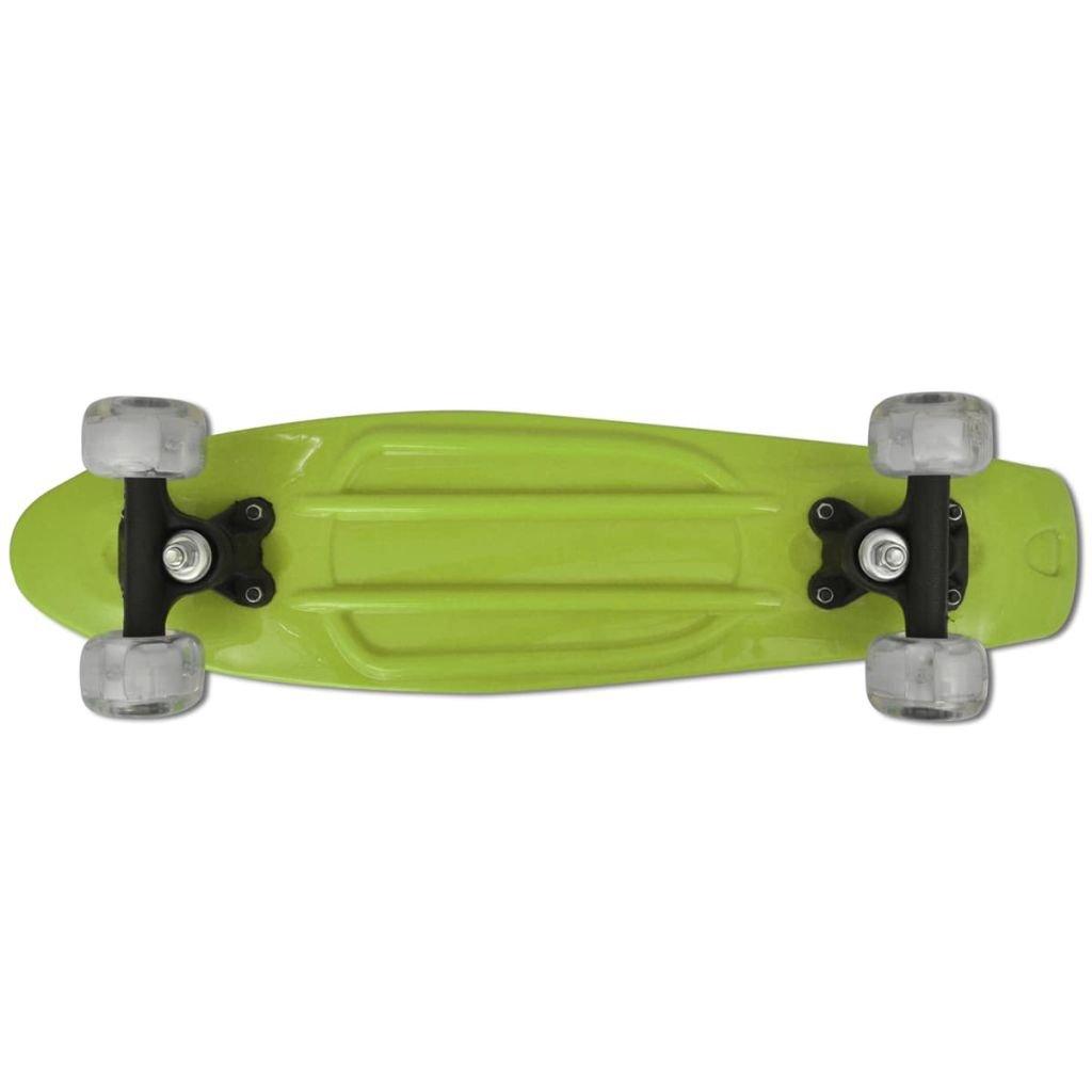 vidaXL Patinete Skateboard Fish Penny Cruiser Rueda LED ...