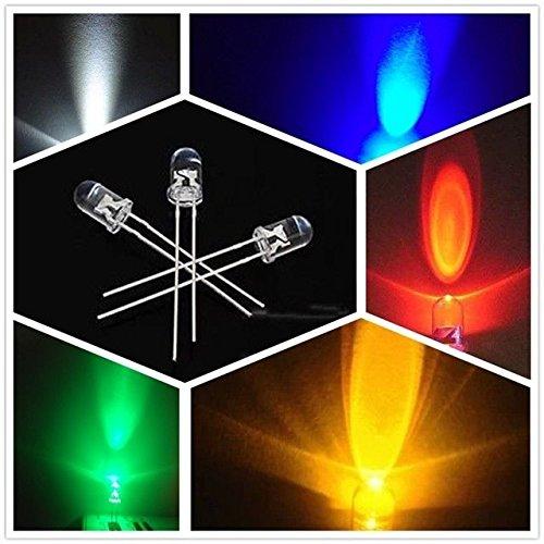 FidgetFidget Amplifiers UltraBright Red/Green/Blue/White/Yellow Ultra Bright 5mm 5valuesx100pcs=500pcs