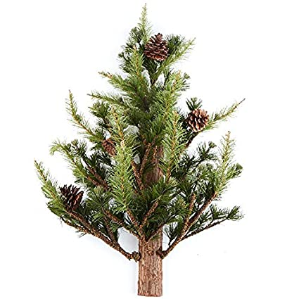Factory Direct Craft Artificial Wall Mounted Pine Tree with Pinecone  Accents for Holiday Decor - Amazon.com: Factory Direct Craft Artificial Wall Mounted Pine Tree