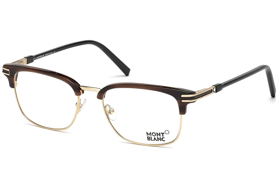 Mont Blanc MB0669 Eyeglass Frames - Shiny Dark Brown Frame, 53 mm ...