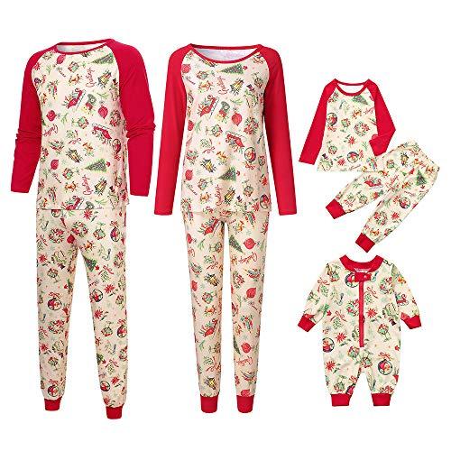 Print Mum (Gooldu Family Pajama Set Cute Print Christmas Pajamas Sets for Mum Dad Kids)