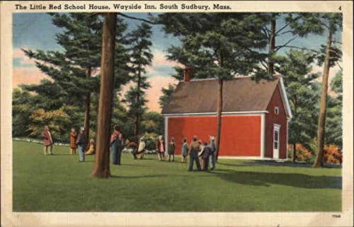 The Little Red School House - Wayside Inn Sudbury, Massachusetts Original Vintage Postcard