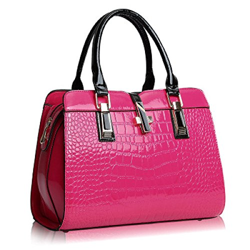 Moda Bolso Mini PU ​​hombro Bandolera Casual Damas Embrague Pink