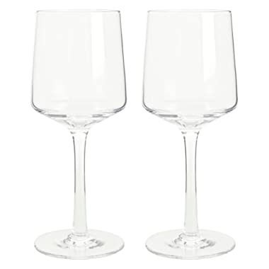 Denby Natural Canvas White Wine Glasses, Clear, Pack of 2