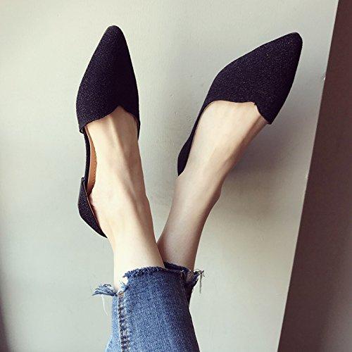 Trente Fond Anti Femmes D't Ct Chaussures Vide cinq Mou Enceinte Slip Kphy Simple Plates Noir Confortable HAOfKx