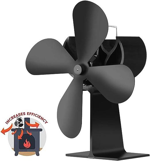 AMZ BCS Ventilador de la Chimenea Circulador de Aire Caliente ...