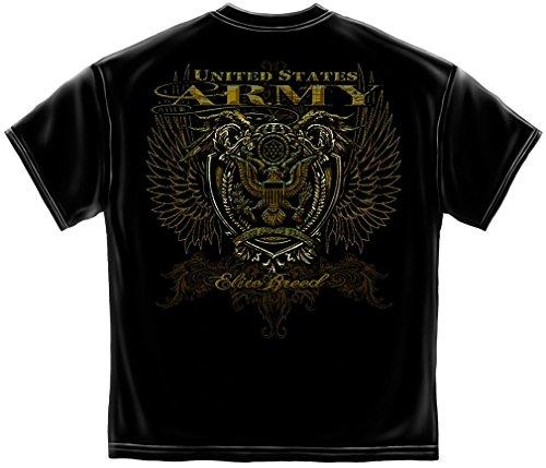 Army T-Shirt Crest Elite Breed Rise Above Fear XX-Large Black (Joe Army T-shirt)