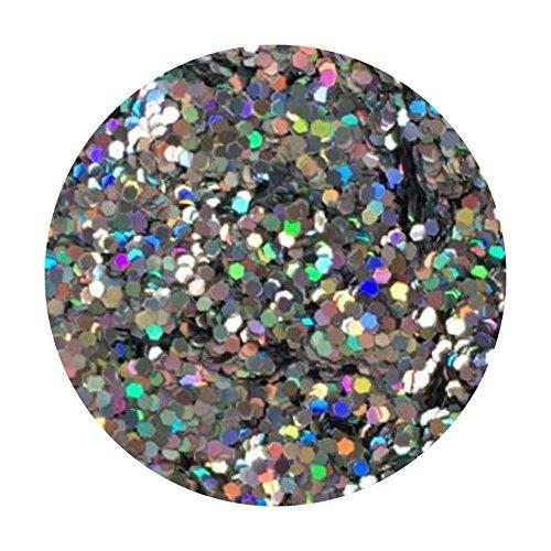 Glitter Pot - ( 217 Diamond Silver ) Chunky Festival Glitter Hexagon Glitter Eyes Nail Art Face And Body