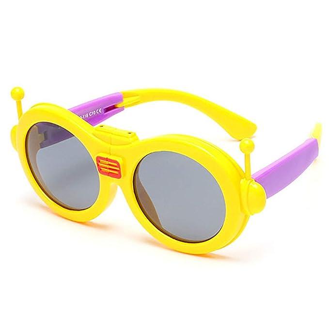 Niños Gafas de sol Robot Gafas de sol con pliegues polarizados Niños niños Fiesta de chicas