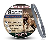 HKCP New Vision 2018 Flea and Tick Collar for Dog and Cat - 8 Months Protection Allergy-Free Medicine-Waterproof flea tick Collar