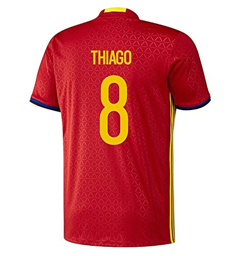 インフルエンザ上記の頭と肩白菜adidas Thiago #8 Spain Home Jersey UEFA EURO 2016 (Authentic name & number) /サッカーユニフォーム スペイン ホーム用 ティアゴ