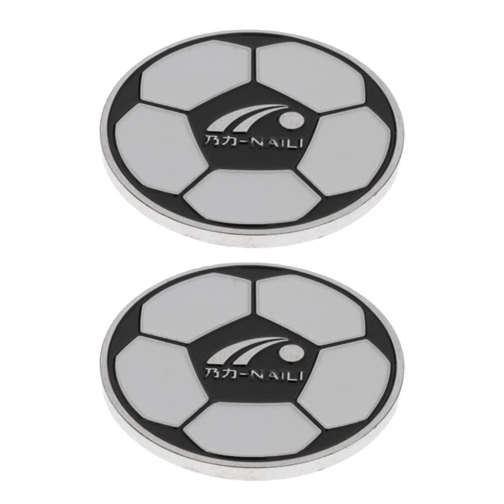 Baosity 2 Piece Sturdy Alloy Football Soccer Referee Flip Coin Judge Toss Coin with Storage Case