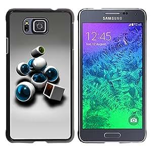 Caucho caso de Shell duro de la cubierta de accesorios de protección BY RAYDREAMMM - Samsung GALAXY ALPHA G850 - Abstract