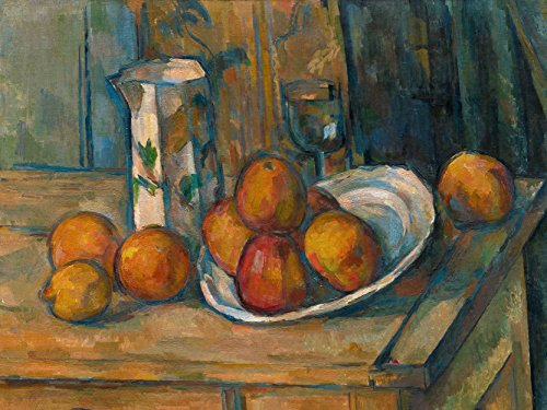 Paul Cezanne French Still Life Milk Jug Fruit Old Art Painting Poster Print
