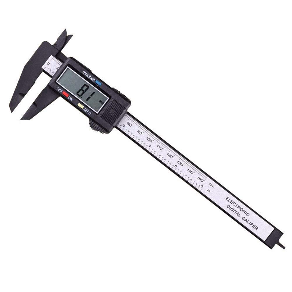 Rocita Lujii150mm électronique Pied à Coulisse numérique Vernier avec écran LCD Inc Coque Rigide (Digital 150mm)