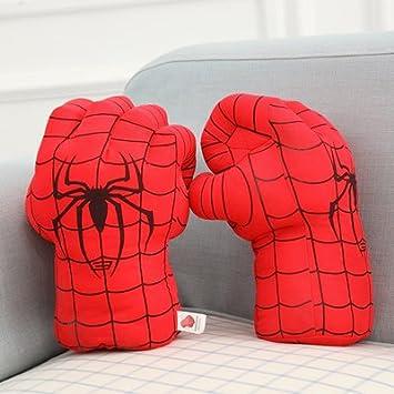 Cengbao divertente giocattolo di sfiato Hulk Hulk film i Guantoni boxe Guantoni boxe pugno di peluche, Spiderman linea nera pugno Set, 30cm