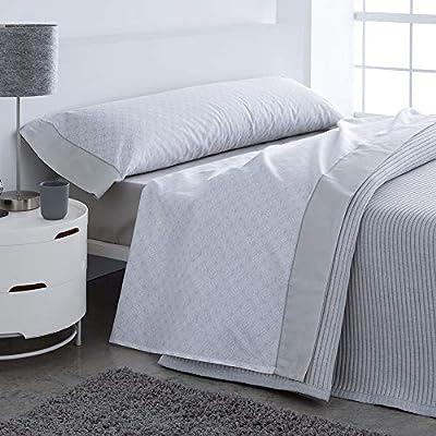 Barceló Hogar 03060140226 Juego de sábanas, modelo Leo, algodón 100%, gris, 90 cm: Amazon.es: Hogar
