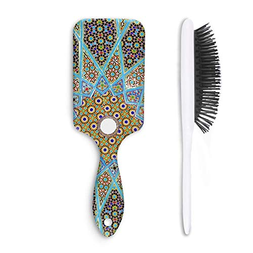 (Mosaic pattern Byzantine Moroccan Hair Brush for Adults & Kids,7.5