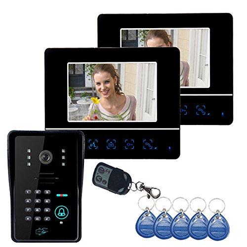 HITSAN ENNIO SY811MJIDS12 Video Door Phone Touch Panel Door Lock RFID Keyfbobs One Piece ()