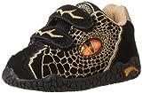 Dinosoles 3D Double Eye Sneaker (Toddler/Little Kid/Big Kid),Black,1.5 M US Little Kid
