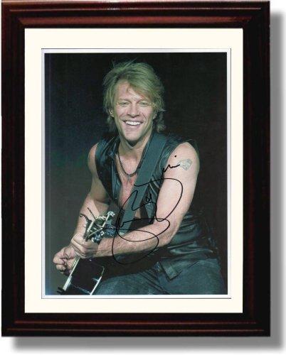 Framed Jon Bon Jovi Autograph Replica Print -