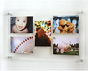 Wexel Art 14x19-Inch Rectango Magnetic Single Panel Acrylic Floating Fram for Up to 11x17 Art & Photos