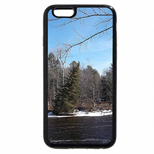 iPhone 6S Case, iPhone 6 Case (Black & White) - march afternoon in fairfield, maine