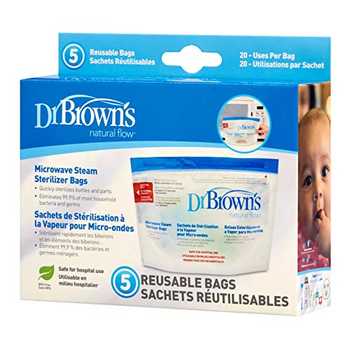 - Reusable Sanitizer Bags for Bottles and Pump Parts Microwave Sterilizer Bags 6pk Use Each up to 20x