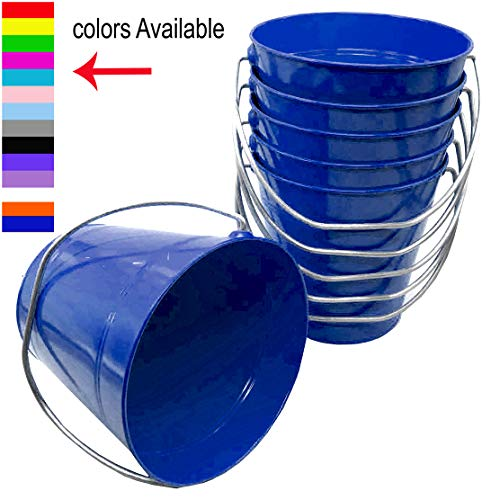 Royal Blue Metal - ITALIA 6 Pack Metal Bucket, Royal Blue Metal Bucket 5