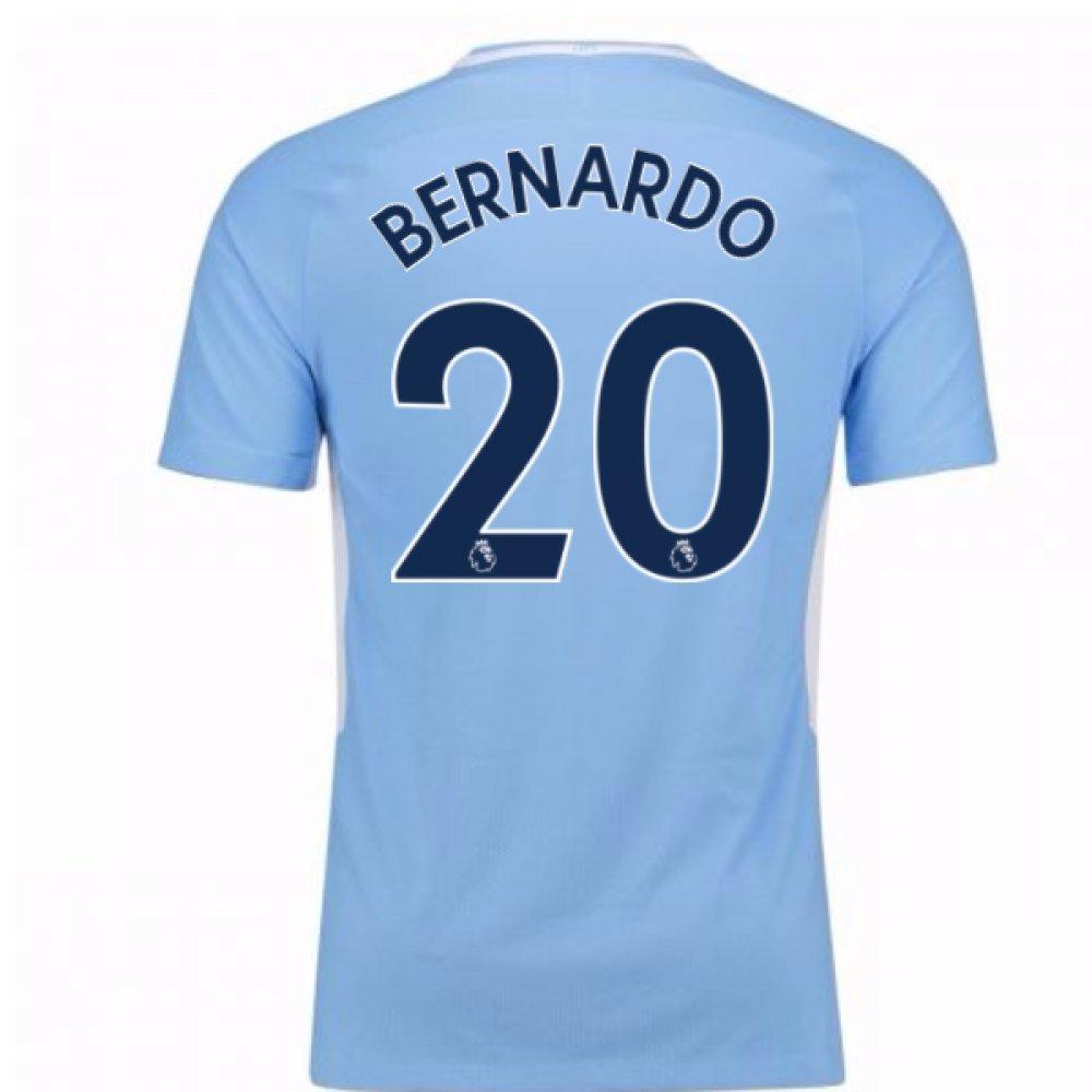 2017-18 Man City Home Football Soccer T-Shirt Trikot (Bernardo Silva 20)