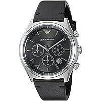 Emporio Armani Men's AR1975 Dress Black Leather Quartz Watch