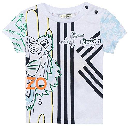 Price comparison product image Kenzo Kids Baby Boys Boubou Tee-shirt,  WHITE,  18M