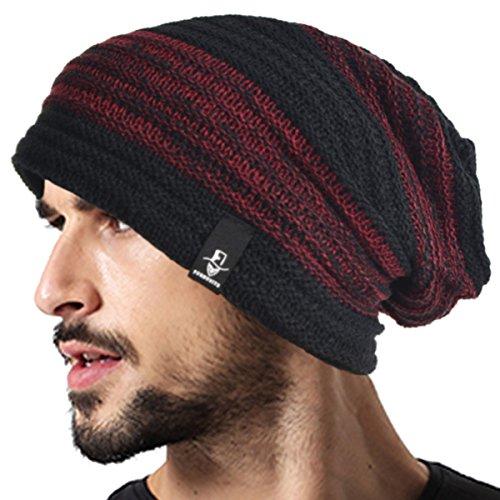 VECRY Men's Cool Cotton Beanie Slouch Skull Cap Long Baggy Hip-Hop Winter Summer Hat B305 - Cool Beanies