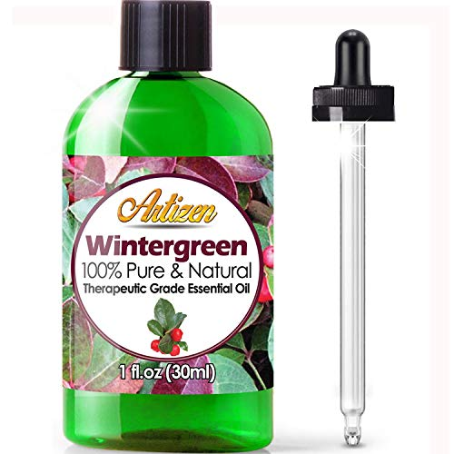 Artizen Wintergreen Essential Oil (100% PURE & NATURAL - UNDILUTED) Therapeutic Grade - Huge 1oz Bottle - Perfect for Aromatherapy, Relaxation, Skin Therapy & More!