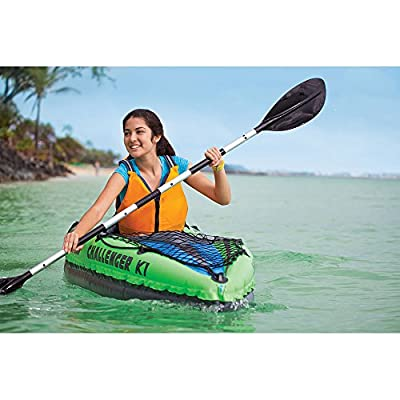 Intex Challenger K2 Kayak, 2 Person Inflatable Kayak Set with Aluminum Oars and High Output Air Pump
