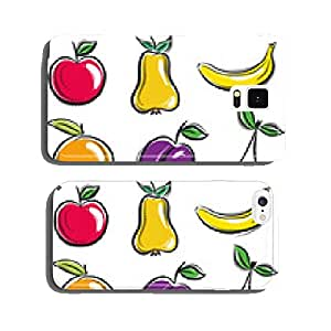 set of fruits, fruit, apple,pear, banana, orange, plum, vector cell phone cover case iPhone6